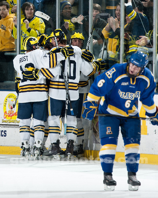 University of Michigan men's ice hockey 2-0 victory over Alaska at Yost Ice Arena in Ann Arbor, MI, on January 21, 2011.
