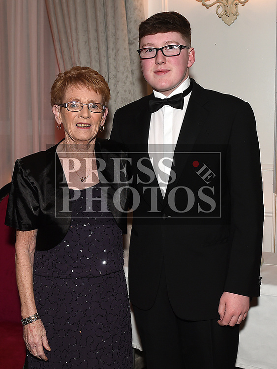 Keane Barry and Joan Floyd at the Drogheda Independent Sports Star of the Year Awards in The Westcourt Hotel. Photo:Colin Bell/pressphotos.ie