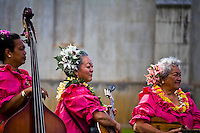 Musical band performing for the annual Lei Day celebration