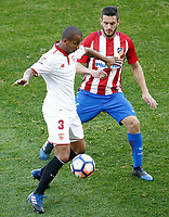 Atletico de Madrid's Koke Resurrecccion (r) and Sevilla FC's Mariano Ferreira during La Liga match. March 19,2017. (ALTERPHOTOS/Acero) /NORTEPHOTO.COM