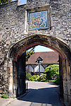 Priory Gate leading into the grounds of Winchester Cathedral