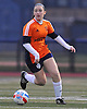 Erin Loonie #18 of Lynbrook moves the ball upfield during the first of two varsity girls soccer all-star games pitting the Nassau County seniors against their Suffolk counterparts at Bethpage High School on Friday, Nov. 25, 2016.