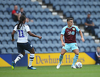 Preston North End's Daniel Johnson battles with Burnley's Ashley Westwood<br /> <br /> Photographer Mick Walker/CameraSport<br /> <br /> Football Pre-Season Friendly - Preston North End  v Burnley FC  - Monday 23st July 2018 - Deepdale  - Preston<br /> <br /> World Copyright &copy; 2018 CameraSport. All rights reserved. 43 Linden Ave. Countesthorpe. Leicester. England. LE8 5PG - Tel: +44 (0) 116 277 4147 - admin@camerasport.com - www.camerasport.com