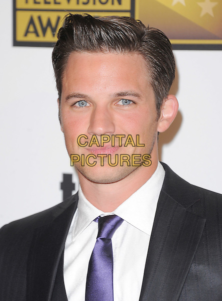 Matt Lanter.The 2nd Annual Critics' Choice Television Awards  held at The Beverly Hilton in Beverly Hills, California, USA..June 18th, 2012.headshot portrait black suit white shirt purple tie  .CAP/RKE/DVS.©DVS/RockinExposures/Capital Pictures.