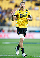 Scott Scrafton of the Hurricanes during the Super Rugby match between the Hurricanes and the Cell C Sharks at Sky Stadium in Wellington, New Zealand on Saturday, 15 February 2020. Photo: Steve Haag / stevehaagsports.com