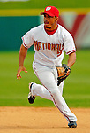 11 March 2006: Bernie Castro, infielder for the Washington Nationals, sets for a drive during a Spring Training game against the Los Angeles Dodgers. The Nationals defeated the Dodgers 2-1 in 10 innings at Space Coast Stadium, in Viera, Florida...Mandatory Photo Credit: Ed Wolfstein.
