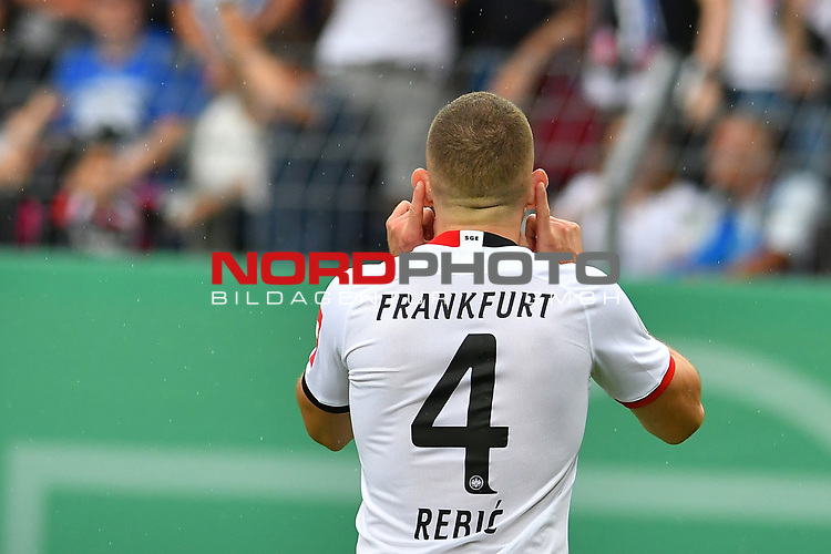 11.08.2019, Carl-Benz-Stadion, Mannheim, GER, DFB Pokal, 1. Runde, SV Waldhof Mannheim vs. Eintracht Frankfurt, <br /> <br /> DFL REGULATIONS PROHIBIT ANY USE OF PHOTOGRAPHS AS IMAGE SEQUENCES AND/OR QUASI-VIDEO.<br /> <br /> im Bild: Ante Rebic (Eintracht Frankfurt #4)<br /> <br /> Foto © nordphoto / Fabisch