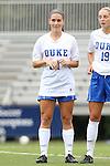 14 September 2014: Duke's Morgan Reis. The Duke University Blue Devils hosted the Louisiana State University Tigers at Koskinen Stadium in Durham, North Carolina in a 2014 NCAA Division I Women's Soccer match. Duke won the game 1-0.