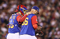 Yusmeiro Petit pitcher inicial de Venezuela recibe 5 carreras en el segundo inning , durante el partido Mexico vs Venezuela, World Baseball Classic en estadio Charros de Jalisco en Guadalajara, Mexico. Marzo 12, 2017. (Photo: AP/Luis Gutierrez)