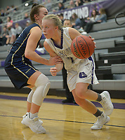 NWA Democrat-Gazette/ANDY SHUPE<br /> Fayetteville's Bentonville West's Friday, Jan. 4, 2018, during the first half of play in Bulldog Arena. Visit nwadg.com/photos to see more photographs from the game.
