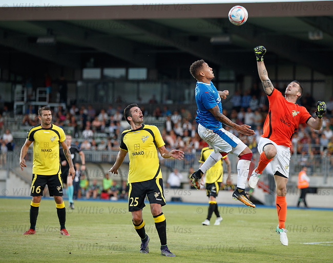 James Tavernier challenges sub keeper Charly Schinker