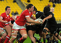 Kelly Russell breaks from the scrum during the 2017 International Women's Rugby Series rugby match between the NZ Black Ferns and Canada at Westpac Stadium in Wellington, New Zealand on Friday, 9 June 2017. Photo: Dave Lintott / lintottphoto.co.nz