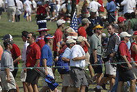 Part of the enormous crowd on the 1st hole during the Singles on the Final Day of the Ryder Cup at Valhalla Golf Club, Louisville, Kentucky, USA, 21st September 2008 (Photo by Eoin Clarke/GOLFFILE)