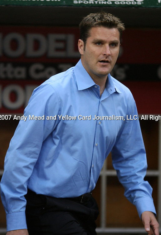 14 April 2007: Kansas City's new head coach Curt Onalfo.  DC United lost 4-2 to the Kansas City Wizards at RFK Stadium in Washington, DC in their Major League Soccer 2007 regular season home opener.