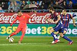 Football match during La Liga between the teams Eibar and Barça<br /> neymar picking the ball<br /> PHOTOCALL3000 / DyD
