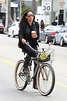 Rosario Dawson rides her bicycle - Los Angeles - EXCLUSIVE PHOTOS