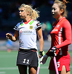 The Hague, Netherlands, June 13: Eileen Hoffmann #11 of Germany looks on during the field hockey placement match (Women - Place 7th/8th) between Korea and Germany on June 13, 2014 during the World Cup 2014 at Kyocera Stadium in The Hague, Netherlands. Final score 4-2 (2-0)  (Photo by Dirk Markgraf / www.265-images.com) *** Local caption ***