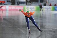 SCHAATSEN: BOEDAPEST: Essent ISU European Championships, 08-01-2012, 5000m Ladies, Annouk van der Weijden NED, ©foto Martin de Jong