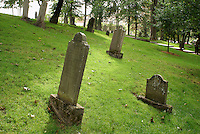 Graves of United Empire Loyalists in the Loyalist Burial Ground in the city of Saint John, New Brunswick, Canada
