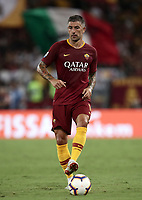 Calcio, Serie A: Roma - Atalanta, Stadio Olimpico, 27 agosto, 2018.<br /> Roma's Aleksandar Kolarov in action during the Italian Serie A football match between Roma and Atalanta at Roma's Stadio Olimpico, August 27, 2018.<br /> UPDATE IMAGES PRESS/Isabella Bonotto