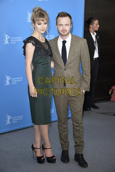 BERLIN, GERMANY - FEBRUARY 10 - Imogen Poots and Aaron Paul attending the Long Way Down Photocall,  at the Berlin Film Festival, on Monday, February 10, 2014<br /> <br /> CAP/AAP<br /> &copy;AAP/Capital Pictures