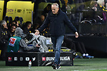 01.12.2018, Signal Iduna Park, Dortmund, GER, DFL, BL, Borussia Dortmund vs SC Freiburg, DFL regulations prohibit any use of photographs as image sequences and/or quasi-video<br /> <br /> im Bild Christian Streich (SC Freiburg) unzufrieden / enttaeuscht / niedergeschlagen / frustriert, <br /> <br /> Foto © nordphoto/Mauelshagen