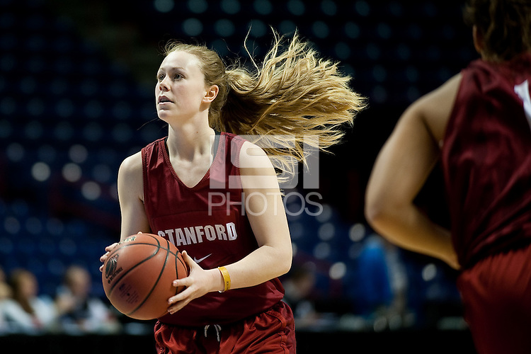 SPOKANE, WA - MARCH 25, 2011: Lindy La Rocque at the Stanford Women's Basketball, NCAA West Regionals practice at Spokane Arena on March 25, 2011.
