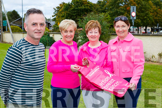 Eugene O'Sullivan launching the Irish Cancer Society Pink ribbon day which will be held on Friday 6th October