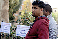 Roma, 4 Novembre 2017<br /> Largo Cairoli.<br /> La Comunità bengalese protesta contro fascismo e razzismo dopo a seguito della violenta aggressione razzista ai danni di un lavoratore migrante del Bangladesh avvenuta la notte del 28 Ottobre