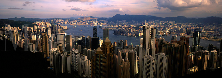 Majestic Hong Kong Harbor from Victoria Peak