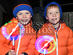 Cormac and Ciaran Reynolds were watching the fireworks in St.Mary's GFC Ardee. Photo:Colin Bell/pressphotos.ie