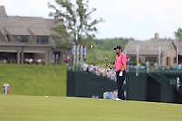 Thomas Aiken (RSA) prepares to play his 2nd shot on the 10th hole during Saturday's Round 3 of the 117th U.S. Open Championship 2017 held at Erin Hills, Erin, Wisconsin, USA. 17th June 2017.<br /> Picture: Eoin Clarke | Golffile<br /> <br /> <br /> All photos usage must carry mandatory copyright credit (&copy; Golffile | Eoin Clarke)