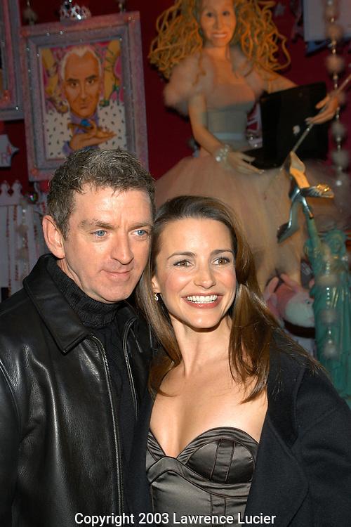 Michael Patrick King and Kristin Davis