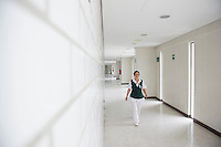 Silvia Nava Nava a nurse at the family clinic Unidad de Medicina Familiar No. 248 IMSS. She benefited as a young student from the support of the NGO UNETE and is now one of it´s success stories.  San Mateo Atenco, Estado de Mexico, Mexico