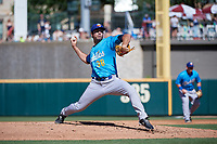 Amarillo Sod Poodles pitcher Jesse Scholtens (38) during a Texas League game against the Frisco RoughRiders on May 19, 2019 at Dr Pepper Ballpark in Frisco, Texas.  (Mike Augustin/Four Seam Images)