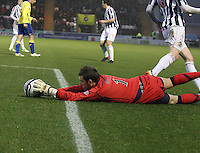 Cammy Bell stretches to keep the ball in the box in the St Mirren v Kilmarnock Clydesdale Bank Scottish Premier League match played at St Mirren Park, Paisley on 2.1.13.