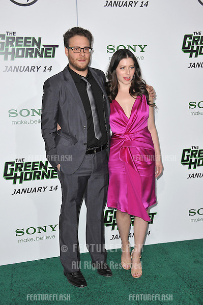 "Seth Rogen & Lauren Miller at the Los Angeles premiere of his new movie ""The Green Hornet"" at Grauman's Chinese Theatre, Hollywood..January 10, 2011  Los Angeles, CA.Picture: Paul Smith / Featureflash"