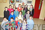 SINGERS/STORY TELLERS: Story tellers and singers who took part in the Feish Chiarrai?, nGaelchola?iste, at Gaiel Colaiste, Tralee on Saturday Front l-r Ryan O?Nei?ll, Pa?draig O? Luanaigh, Theo O? Ceoilea?in,Pa?draig O? Coilea?in, Me?abh Trench agus Proinnsias O? Cathasaigh.2ndu? line: CJ O? Coilea?in, Donagh Mac Uilleago?id, Cla?r Ni? Dhroinghea?in agus Do?nal O? Ce?ileachair. 3u? line: Iseult Ni? Lubhaing,Ma?irtin O? Cathasaigh,Pa?draig Mac Ionnrachtaigh,Fiona Ni? Fhiaich agus Fionnuala Ni? Thrinsigh. 4u? line: Aoife Nic Ionnrachtaig, Ellen Nic Giolla, Geimhridh agus Padraig Mac Fhearghusa (Uachtara?n Na?isiu?nta Chonradh na Gaeilge)................................... ....