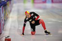 SCHAATSEN: HEERENVEEN: IJsstadion Thialf, 11-01-2013, Seizoen 2012-2013, Essent ISU EK allround, 500m Men, Ferre Spruyt (BEL), ©foto Martin de Jong