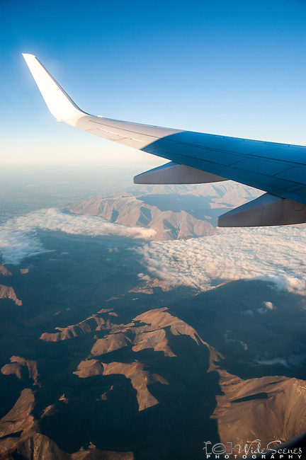 Window seat view over New Zealand