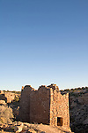Utah, Hovenweep National Monument, Square Tower group, Ancient Pueblo or Anasazi people, archeology, sunrise, U.S.A., Southwest America.