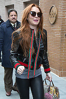 www.acepixs.com<br /> <br /> February 13 2017, New York City<br /> <br /> Actress Lindsay Lohan made a surprise appearance at 'The View' on February 13 2017 in New York City<br /> <br /> By Line: John Peters/ACE Pictures<br /> <br /> <br /> ACE Pictures Inc<br /> Tel: 6467670430<br /> Email: info@acepixs.com<br /> www.acepixs.com