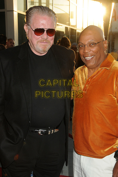 "William Lucking &  Paris Barclay.""Sons Of Anarchy"" Season 4 Premiere Screening held at the Cinerama Dome, Hollywood, California, USA..August 30th, 2011.half length black goatee facial hair  orange velvet top sunglasses shades .CAP/ADM/BP.©Byron Purvis/AdMedia/Capital Pictures."