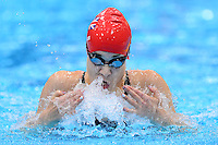 PICTURE BY ALEX BROADWAY /SWPIX.COM - 2012 London Paralympic Games - Day Ten - Swimming, Aquatic Centre, Olympic Park, London, England - 08/09/12 -Harriet Lee of Great Britain competes in the Women's 100m Breaststroke SB9 Heats.