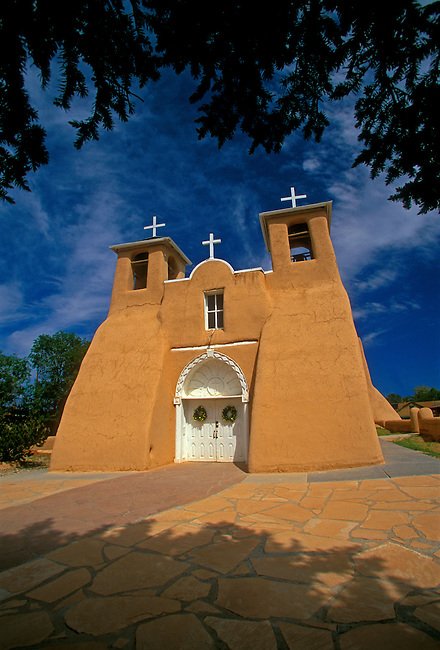 San Francisco de Asis Church, Ranchos de Taos, New Mexico, United States, North America