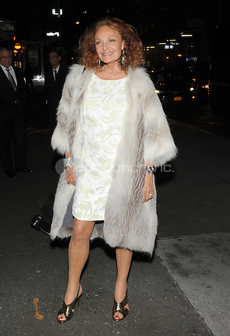 New York, NY- October 23: Diane von Furstenberg spotted on Wall Street attending the 31st annual FGI Night Of Stars event at Cipriani Wall Street on October 23, 2014 in New York City. Credit: John Palmer/MediaPunch