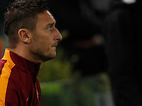 AS Roma's Francesco Totti   during the Champions League Group E soccer match between As Roma and Manchester City  at the Olympic Stadium in Rome December 10 , 2014.
