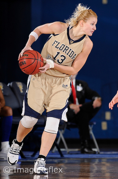 20 December 2008:  FIU's Monika Bosilj (13) handles the ball in the South Alabama 65-47 victory over FIU at the U.S. Century Bank Arena in Miami, Florida.