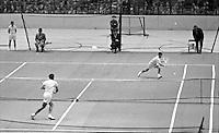 Pancho Gonzales vs Ken Rosewall, Madison Square Garden, 1957. Photograph by John G. Zimmerman.
