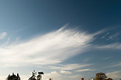 Cumulonimbus clouds over southern England in November.